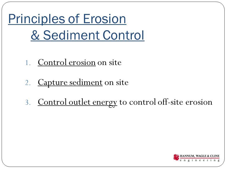 Principles of Erosion & Sediment Control