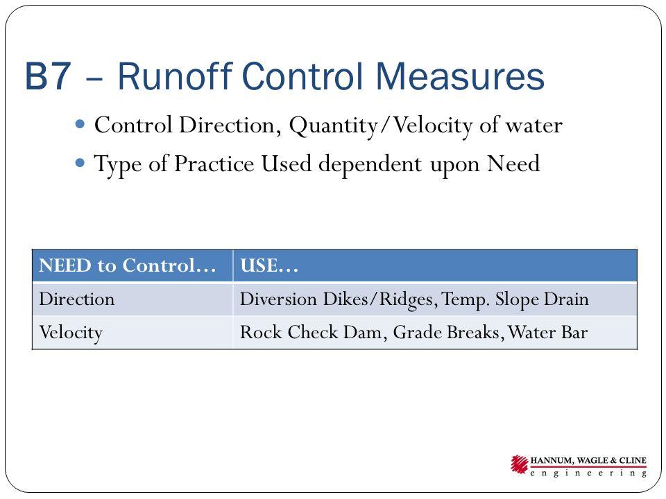 B7 – Runoff Control Measures