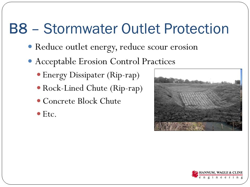 B8 – Stormwater Outlet Protection