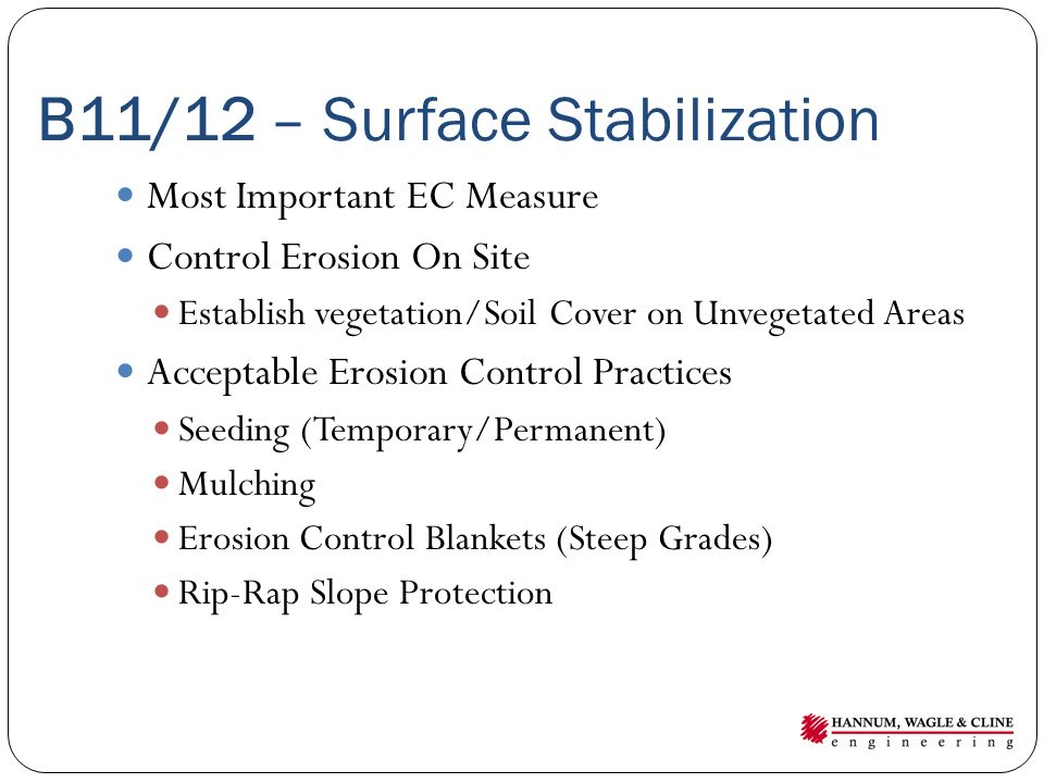 B11/12 – Surface Stabilization