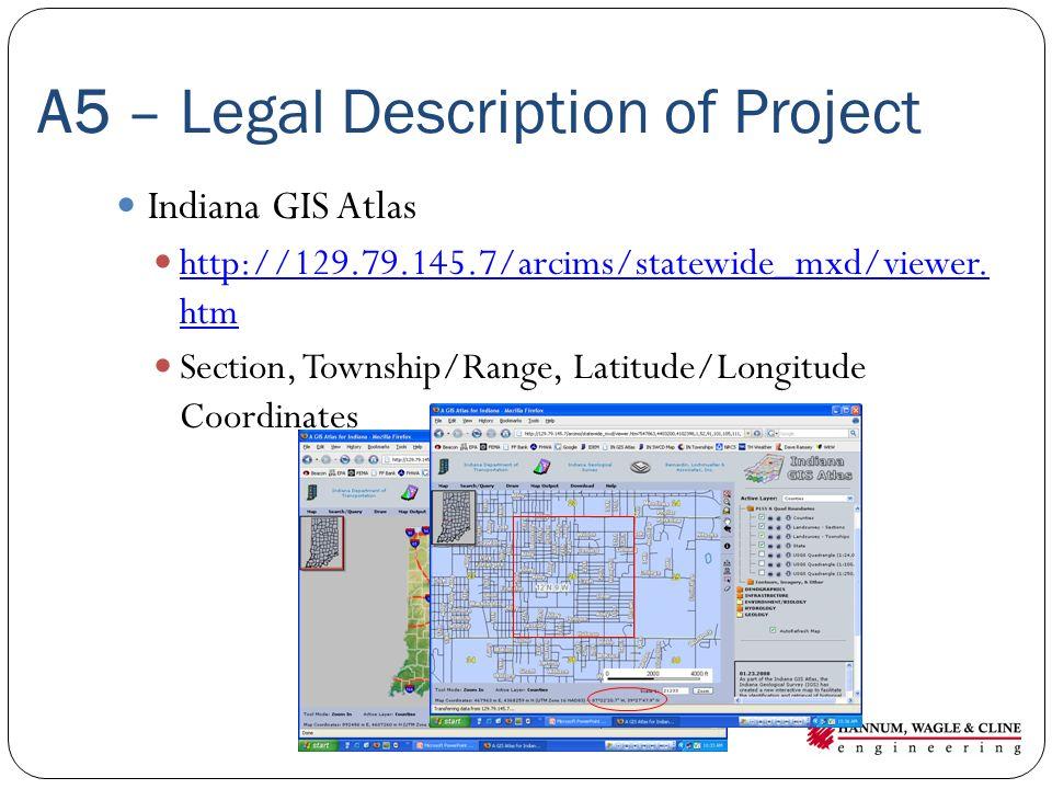 A5 – Legal Description of Project