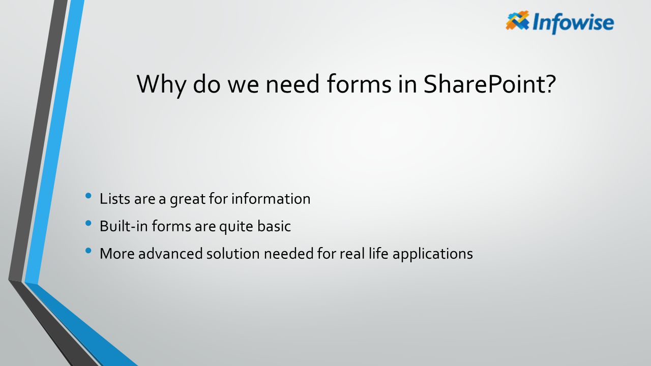 Why do we need forms in SharePoint