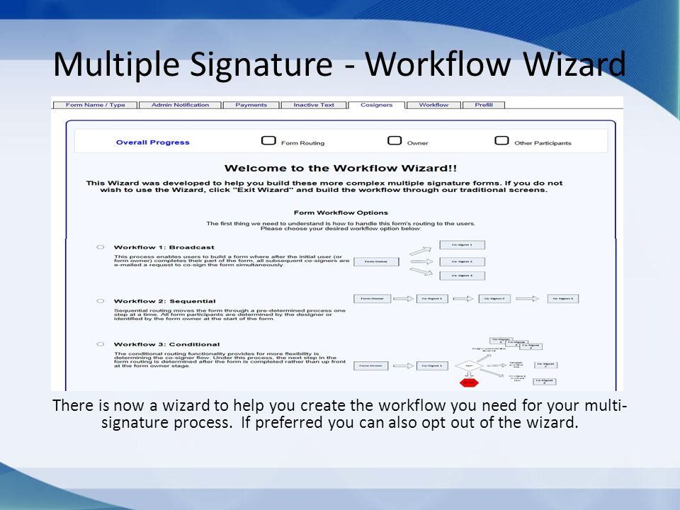 Multiple Signature - Workflow Wizard