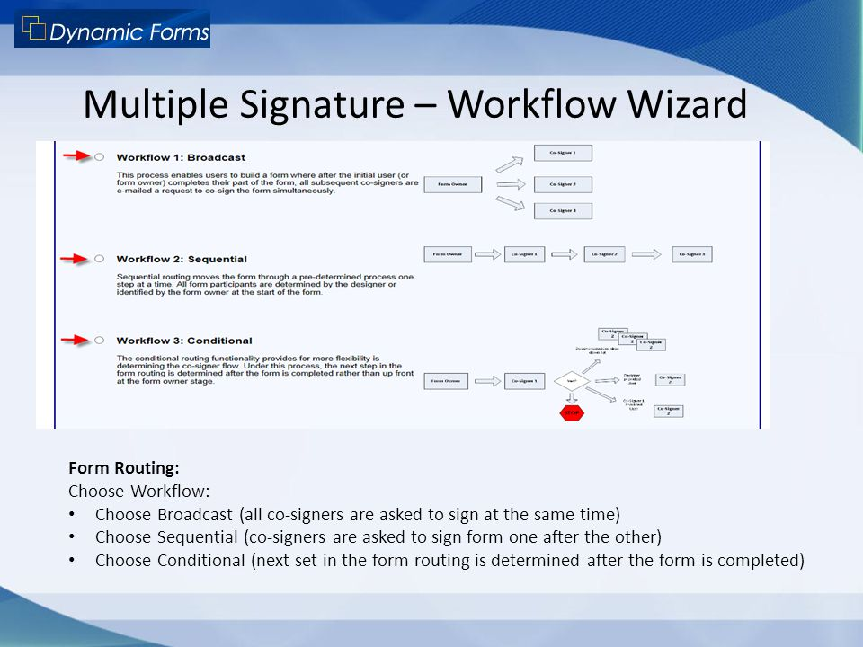 Multiple Signature – Workflow Wizard