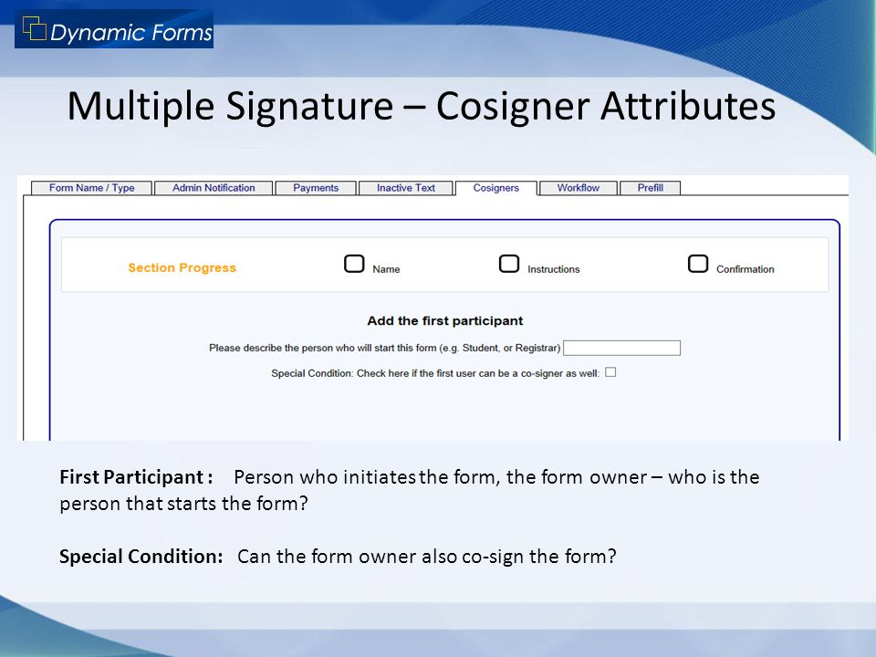Multiple Signature – Cosigner Attributes