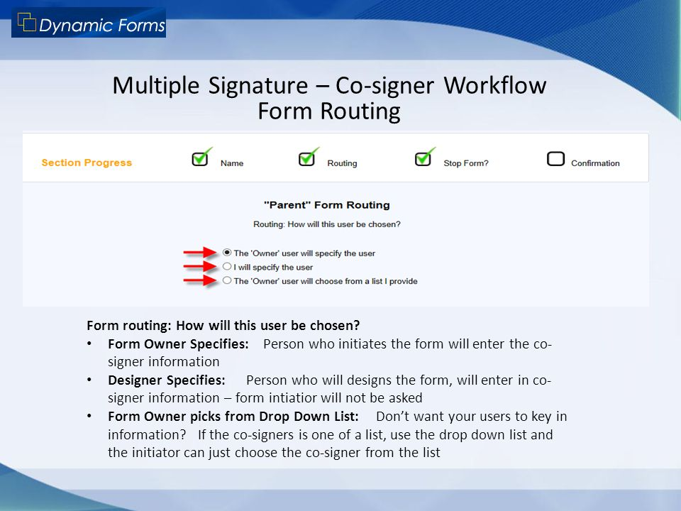 Multiple Signature – Co-signer Workflow