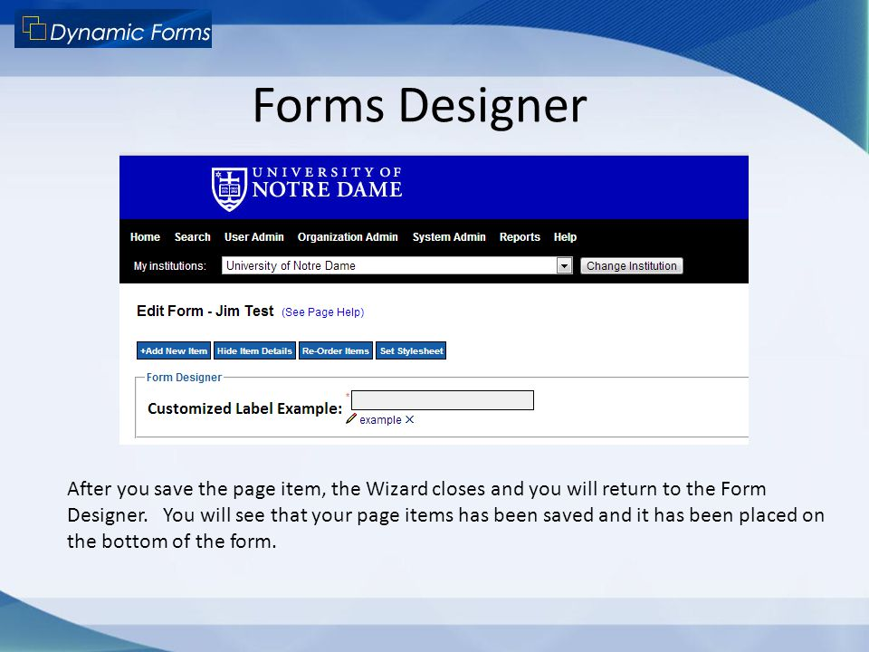 Forms Designer