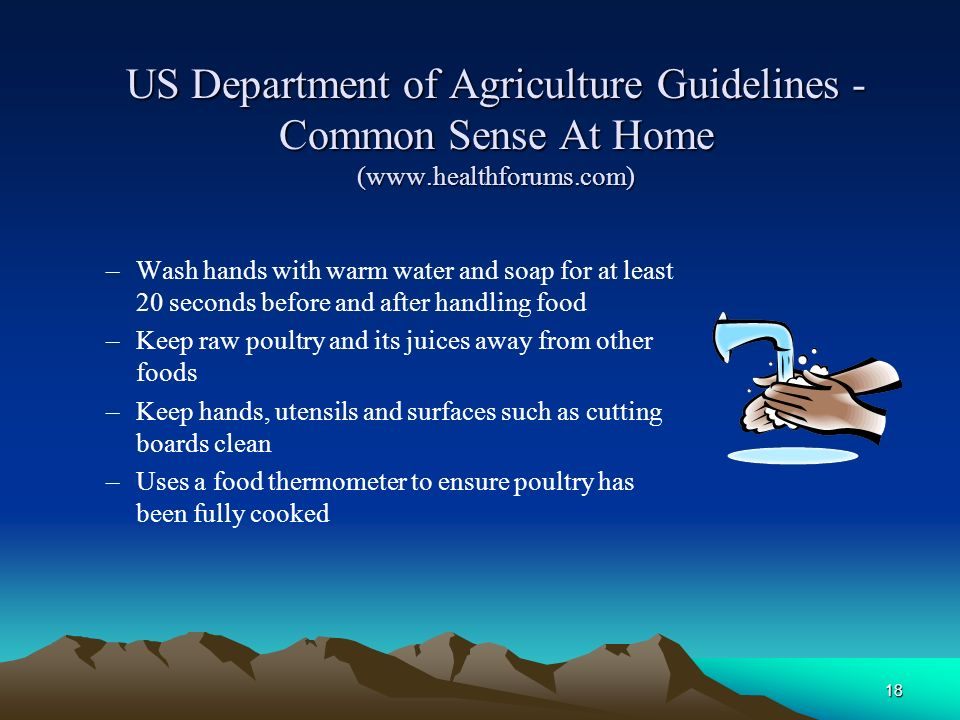 US Department of Agriculture Guidelines - Common Sense At Home (www