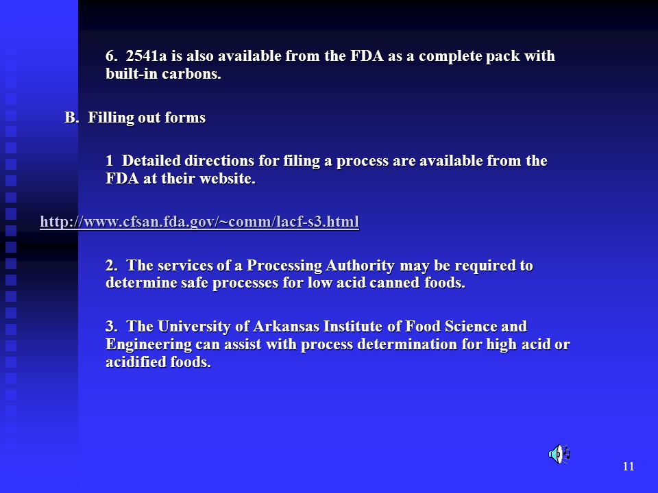 6. 2541a is also available from the FDA as a complete pack with