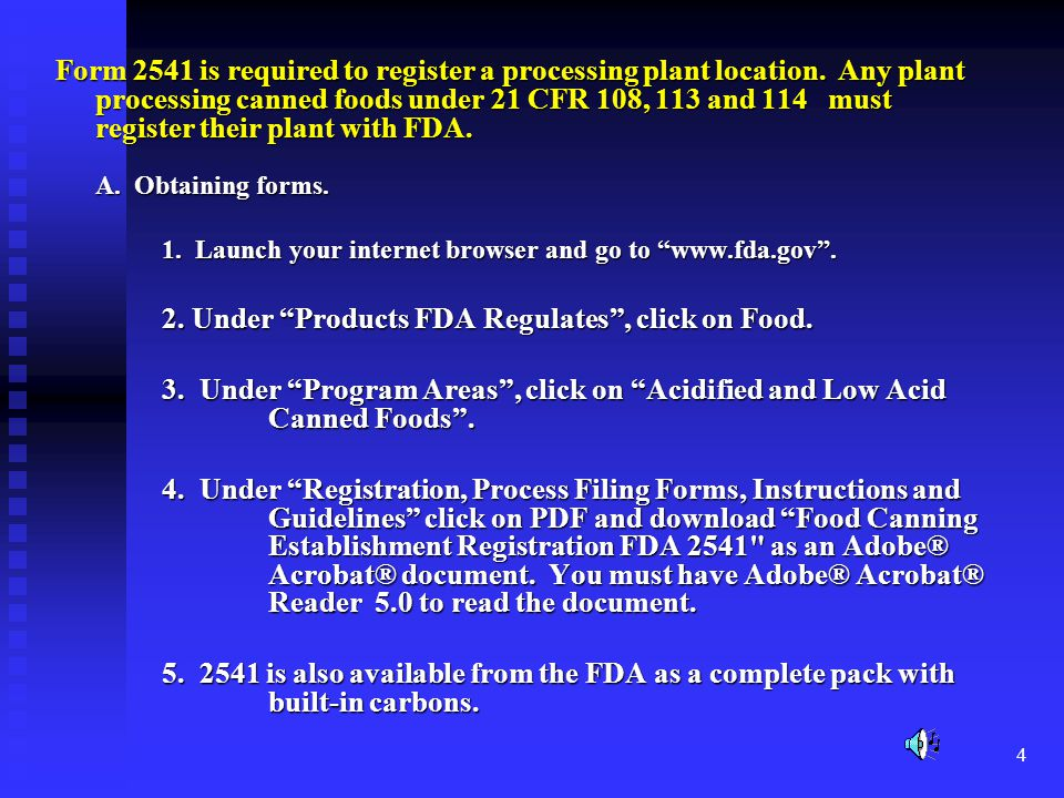 2. Under Products FDA Regulates , click on Food.
