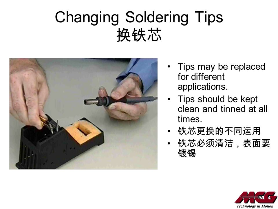Changing Soldering Tips 换铁芯