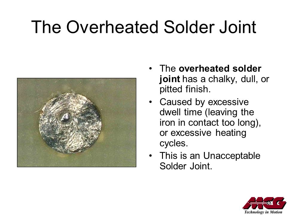 The Overheated Solder Joint