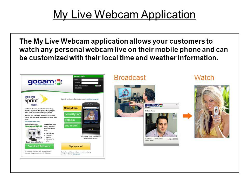 My Live Webcam Application