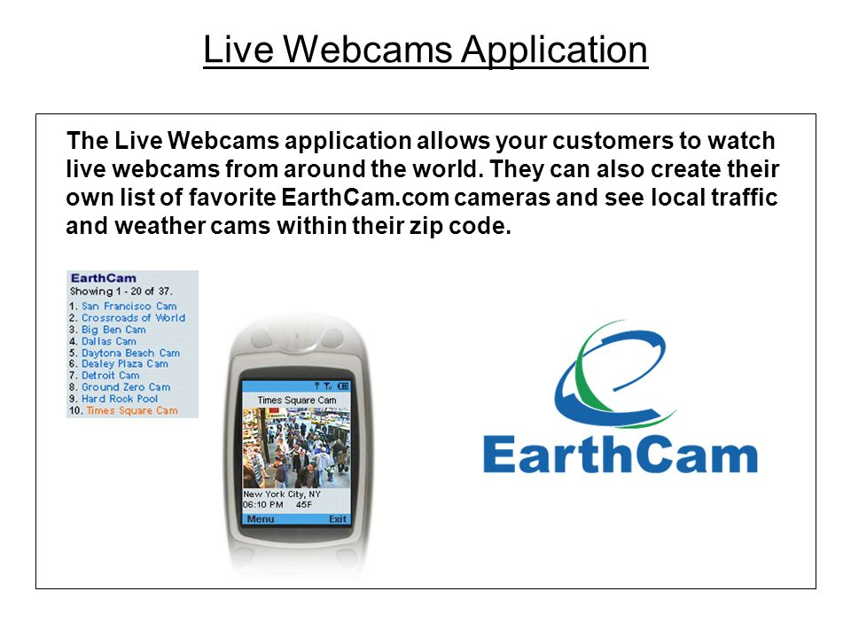 Live Webcams Application