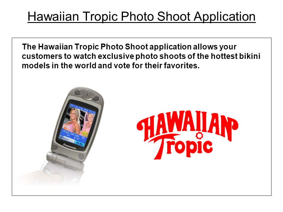 Hawaiian Tropic Photo Shoot Application