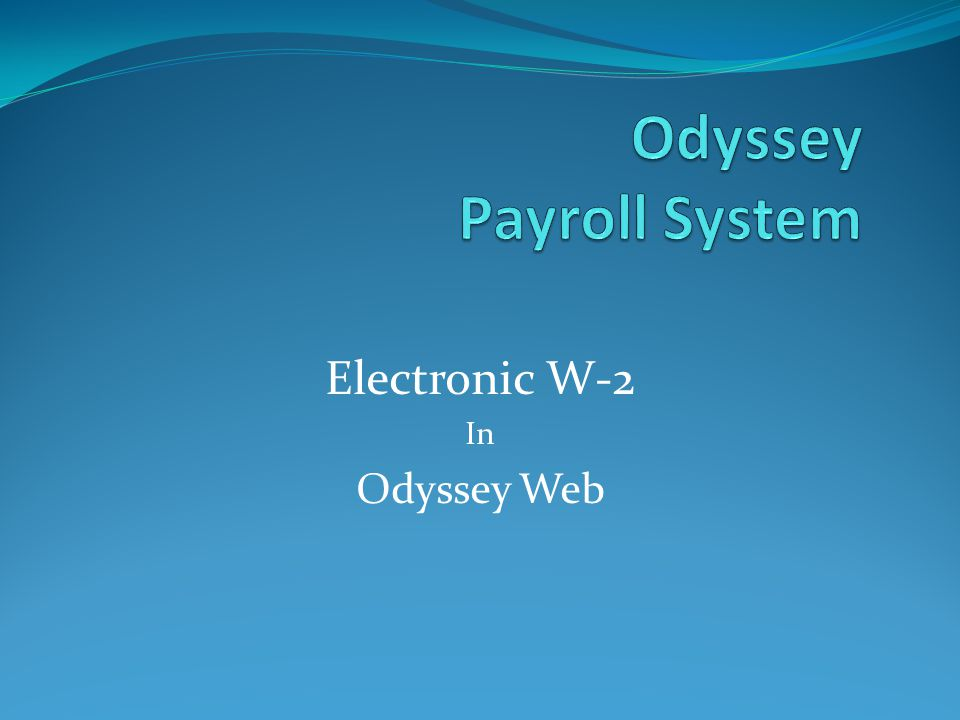 Odyssey Payroll System