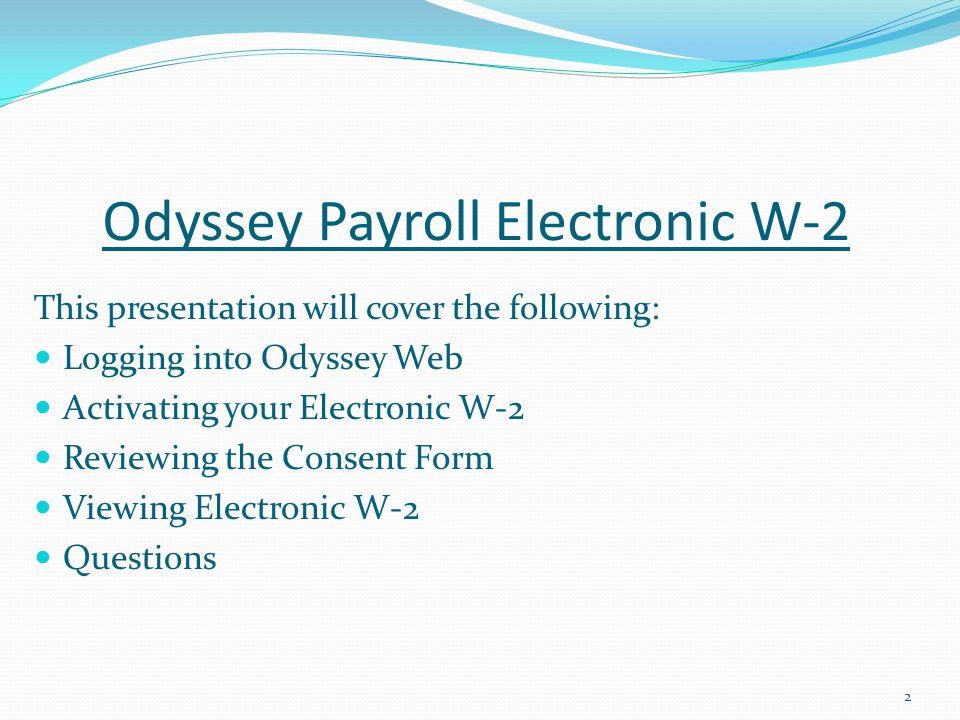 Odyssey Payroll Electronic W-2