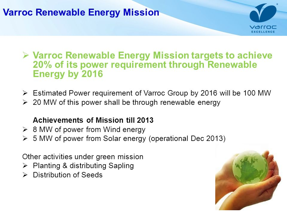 Varroc Renewable Energy Mission