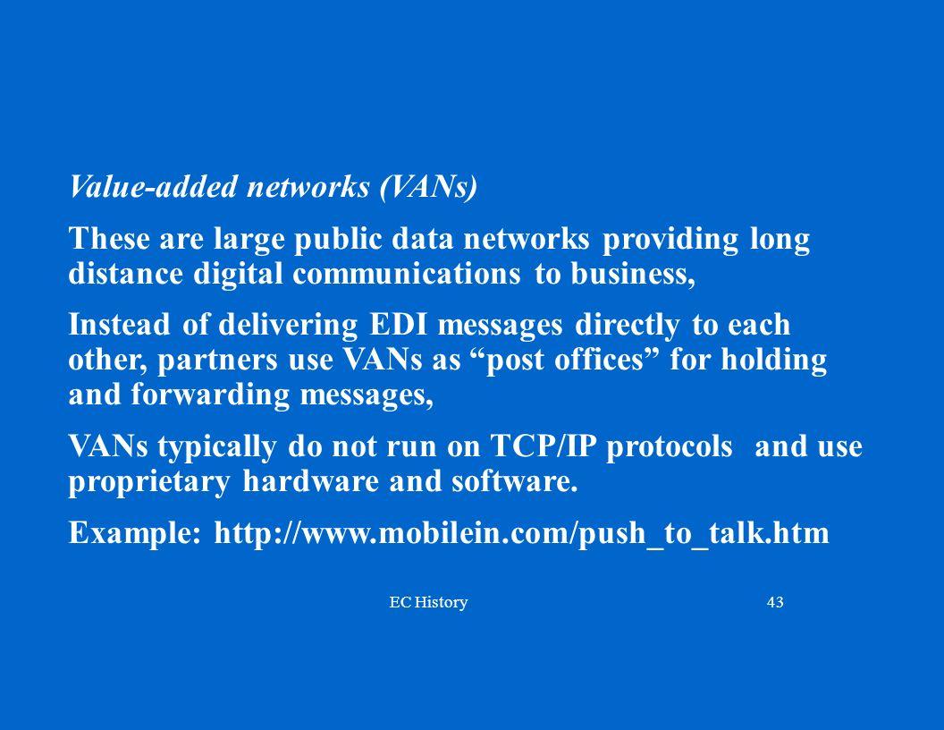 Value-added networks (VANs)