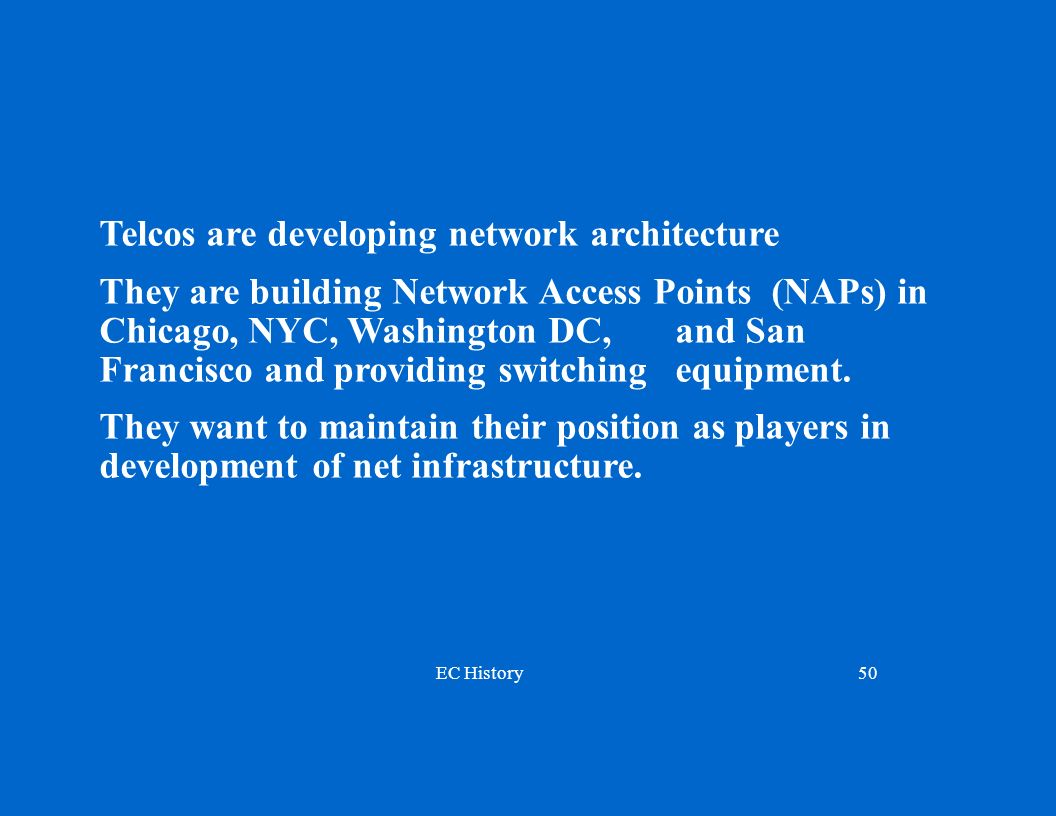 Telcos are developing network architecture