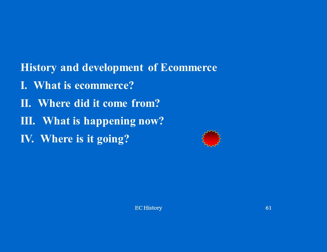 History and development of Ecommerce