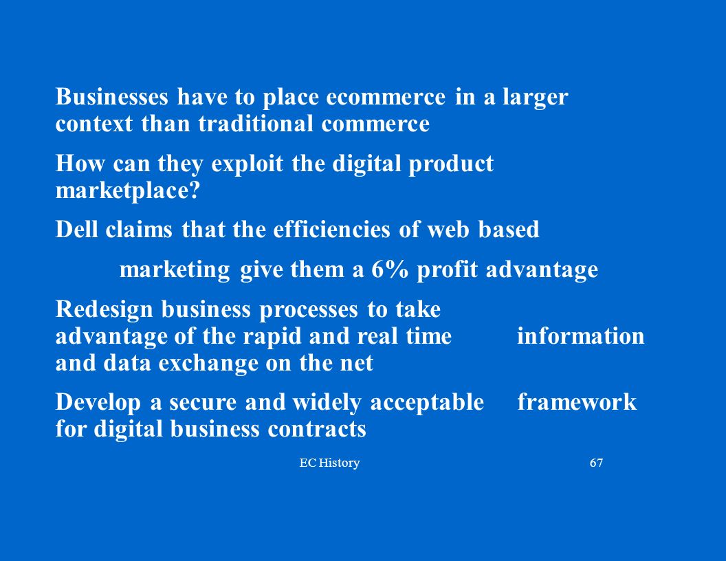 Businesses have to place ecommerce in a larger context than traditional commerce