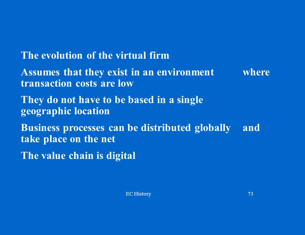 The evolution of the virtual firm