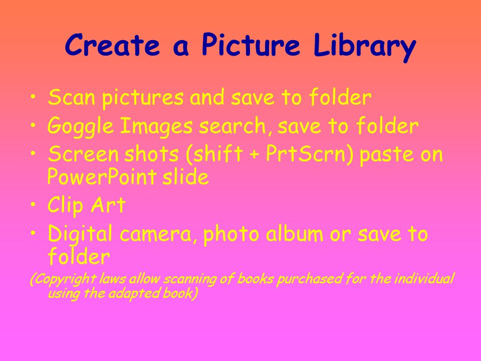 Create a Picture Library
