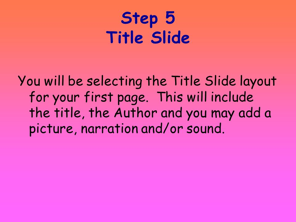 Step 5 Title Slide