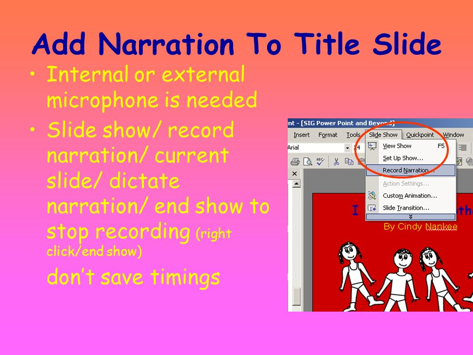 Add Narration To Title Slide
