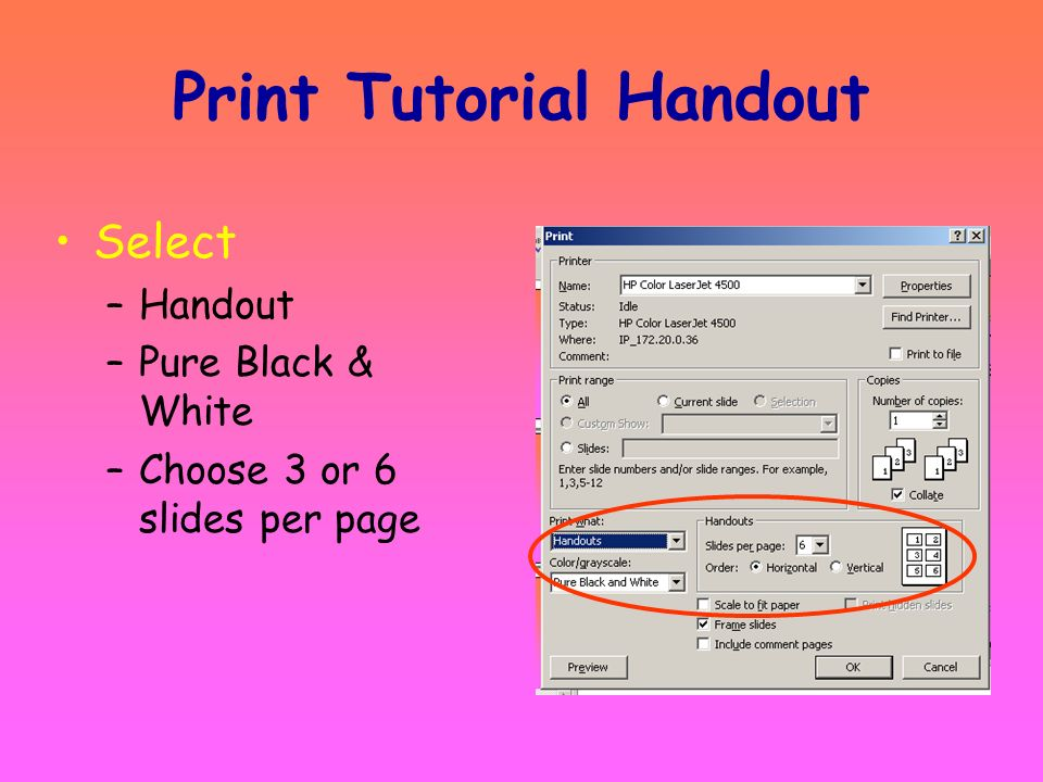 Print Tutorial Handout