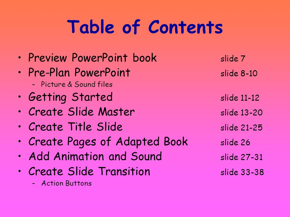Table of Contents Preview PowerPoint book slide 7