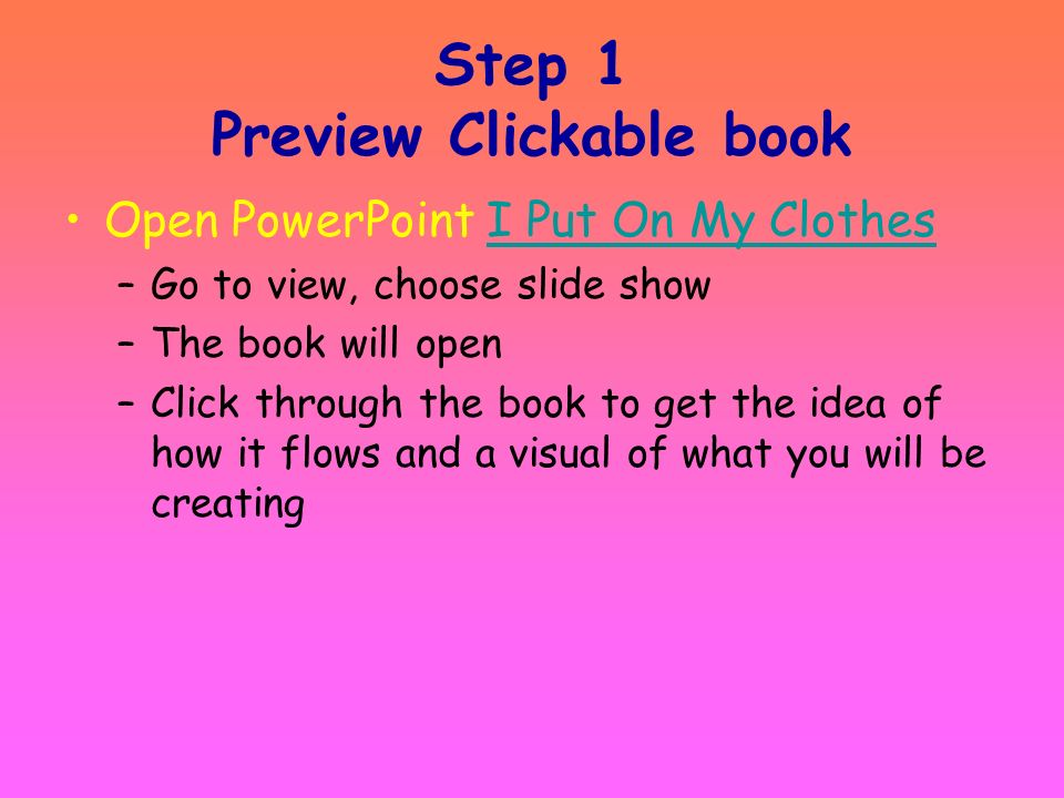 Step 1 Preview Clickable book