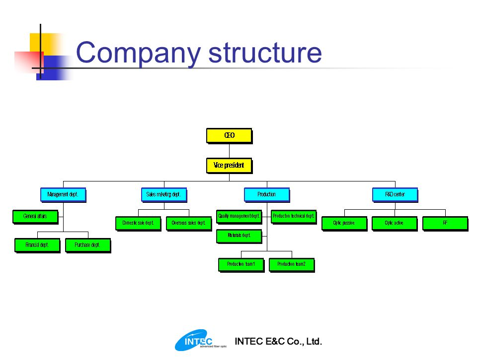 Company structure INTEC E&C Co., Ltd.