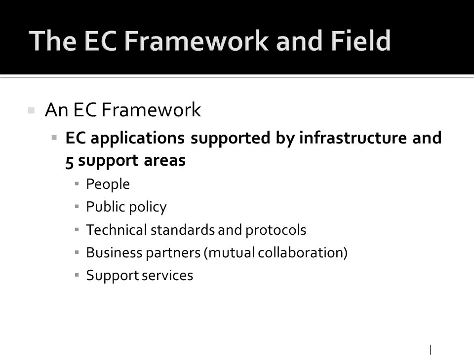The EC Framework and Field