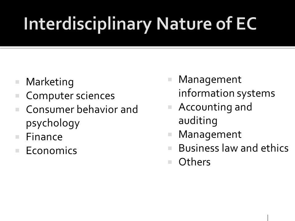 Interdisciplinary Nature of EC