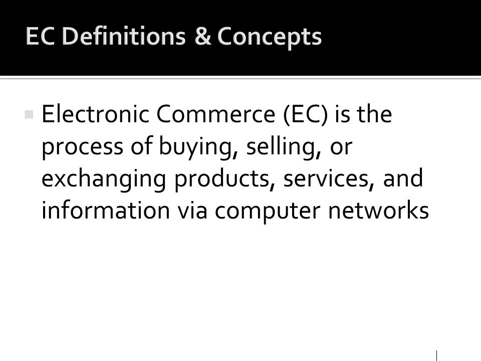 EC Definitions & Concepts