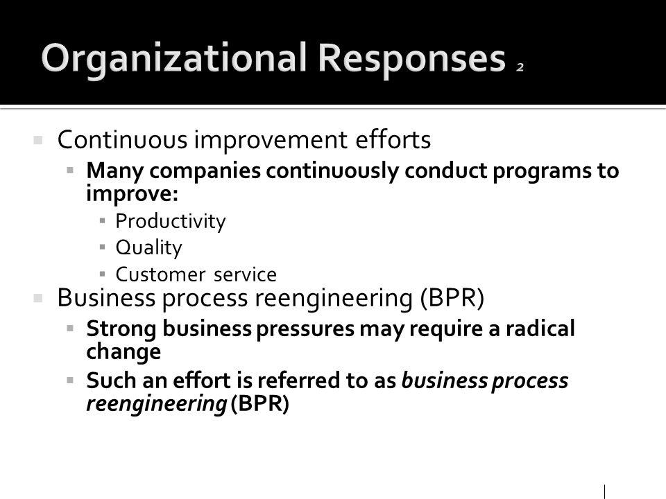 Organizational Responses 2
