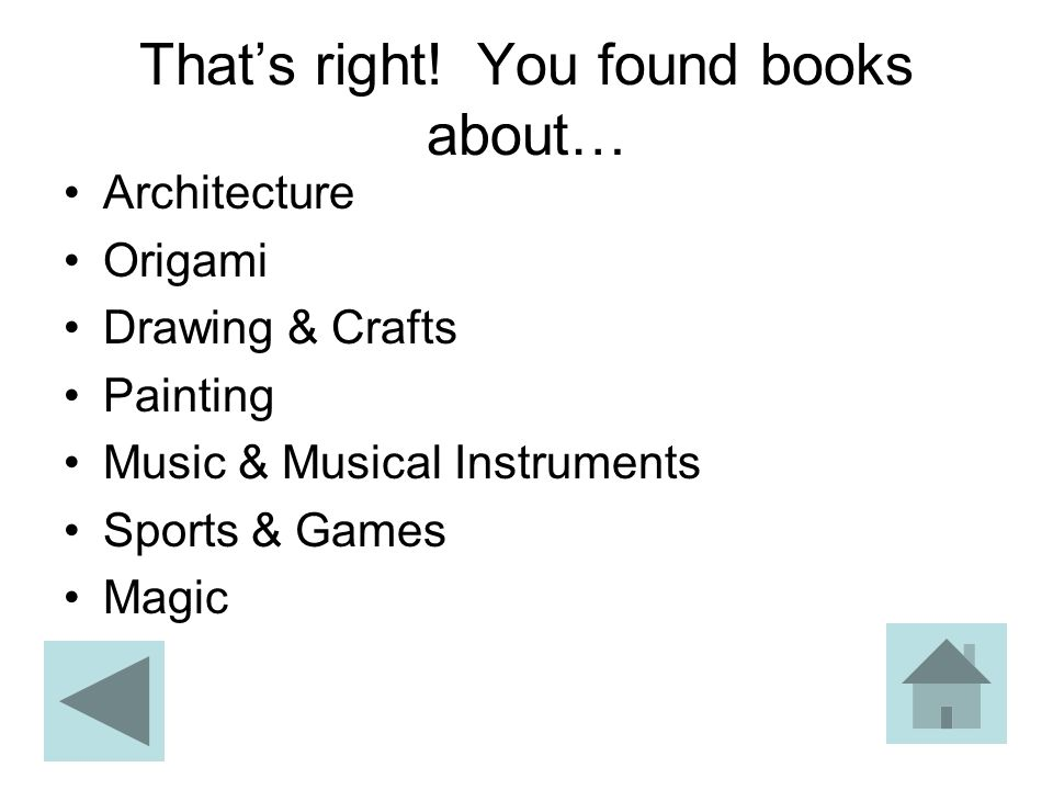 That's right! You found books about…