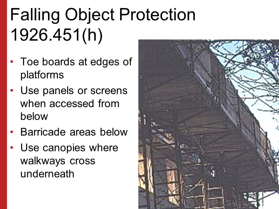 Falling Object Protection (h)