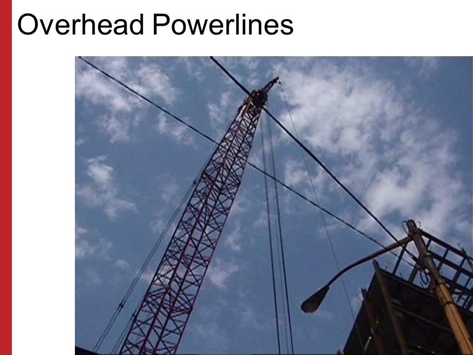 Overhead Powerlines Susan Harwood Training Grant Program (2006) Focus Four Hazards in the Construction Industry.