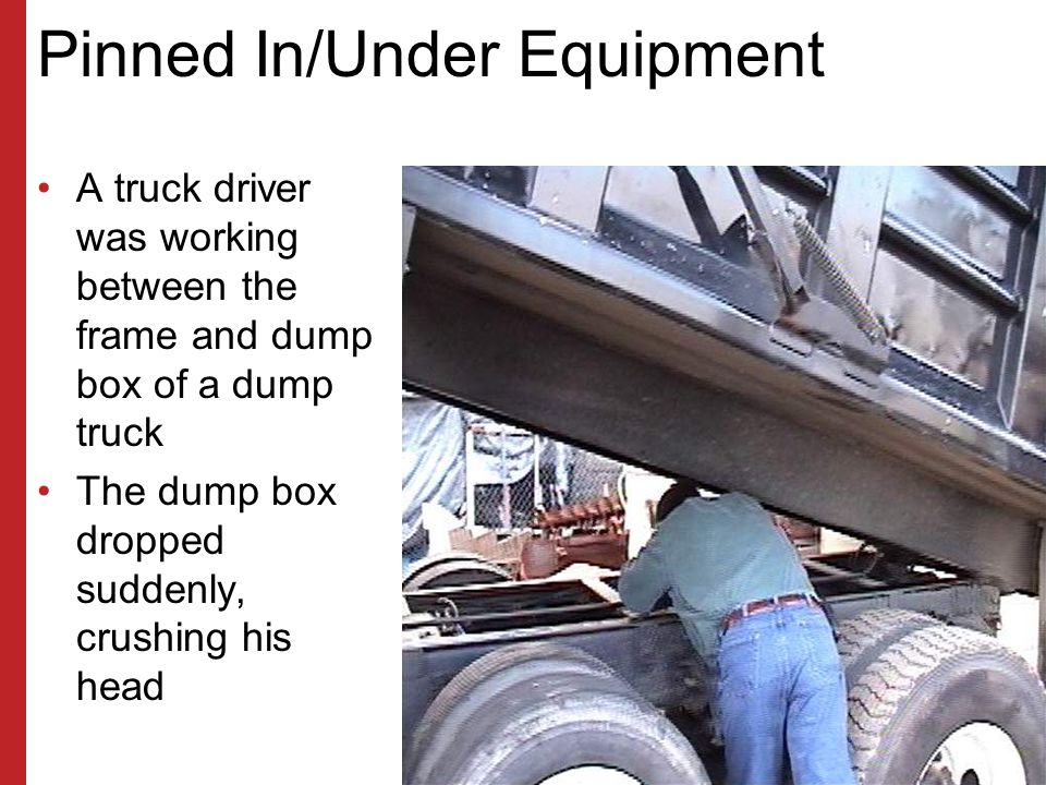 Pinned In/Under Equipment