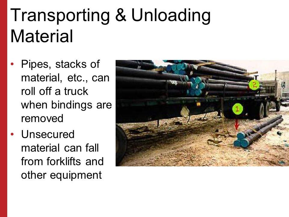 Transporting & Unloading Material