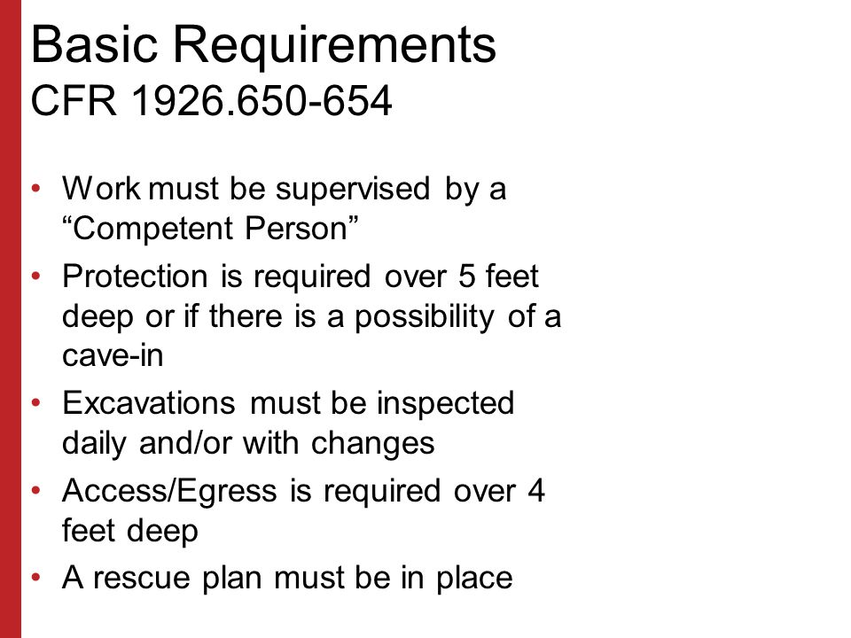 Basic Requirements CFR