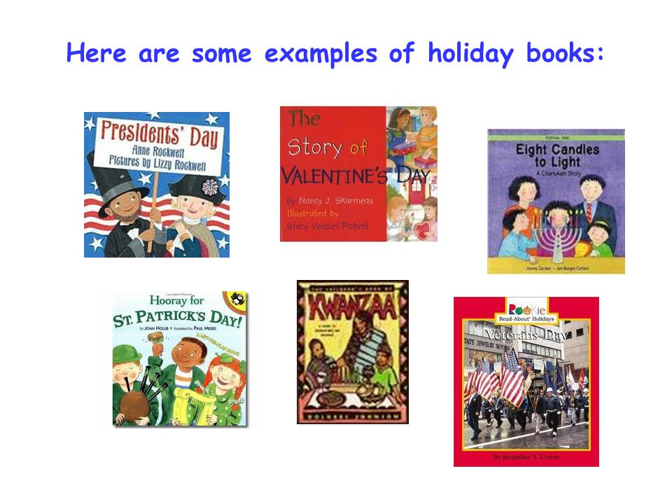 Here are some examples of holiday books: