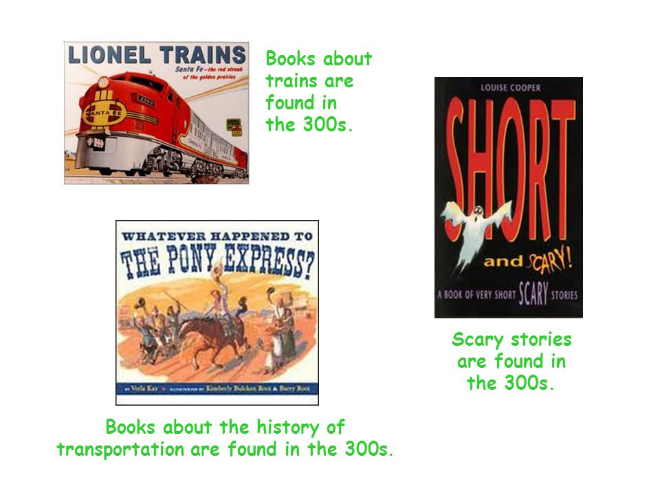 Books about trains are found in the 300s.