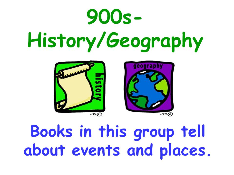 Books in this group tell about events and places.