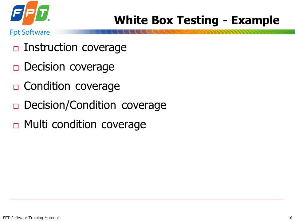 White Box Testing - Example