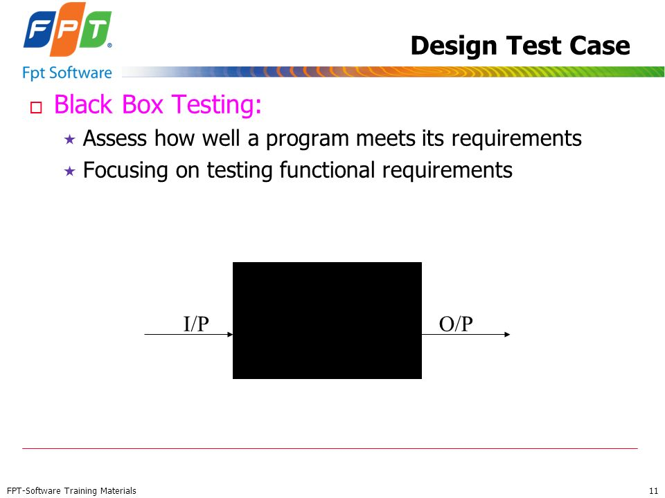 Design Test Case Black Box Testing: