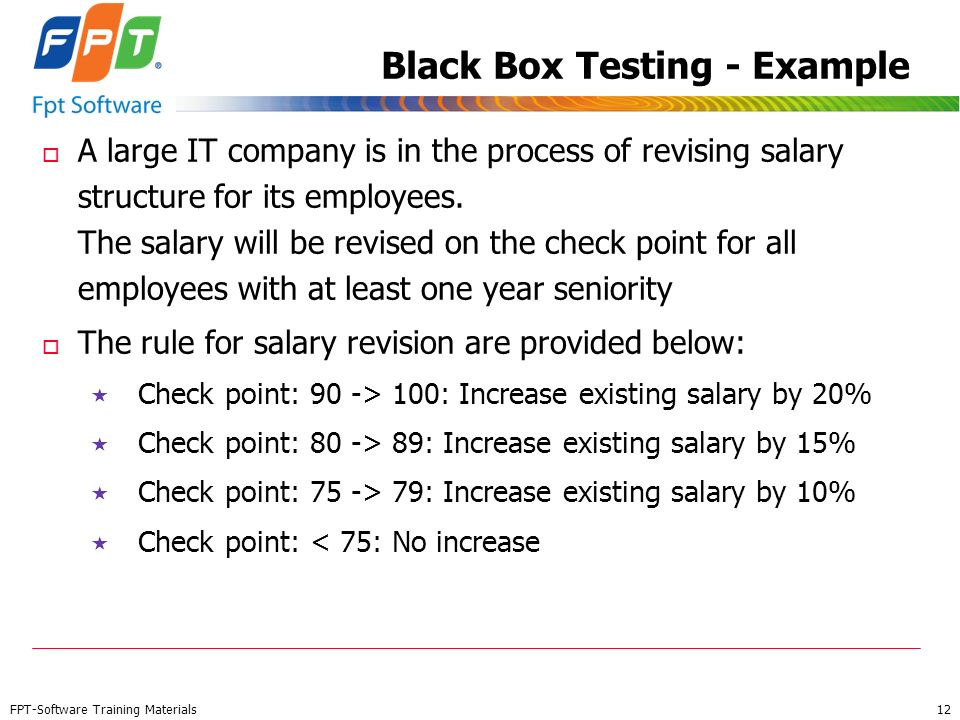 Black Box Testing - Example